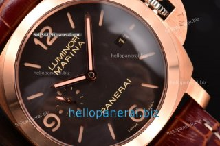 Panerai Luminor Marina 1950 3 Days RG Black Dial P.9000 Ref.PAM 393 - 1:1 Original (ZF)