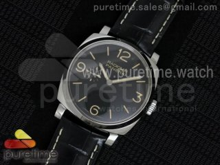 PAM572 Q V6F Black Dial on Black Leather Strap P2002