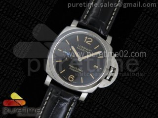PAM1392 S V6F 1:1 Best Edition Lite on Black Leather Strap P9010