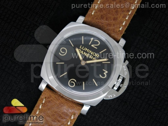 PAM372 N SF 1:1 Edition on Thick Brown Leather Strap P.3000 Super Clone V2