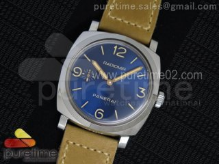 PAM690 Q SF Best Edition Blue Dial on Thick Brown Leather Strap P.3000 Super Clone