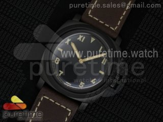 PAM629 R Luminor 1950 DLC ZF California Dial on Thick Brown Leather Strap P.3000 Super Clone
