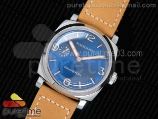PAM690 S ZF 1:1 Best Edition Blue Dial on Thick Brown Leather Strap P.3000 Super Clone