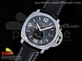 "PAM498 O ""福"" VSF 1:1 Best Edition on Black Leather Strap P.9000 Super Clone V2"