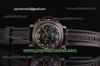 Panerai Luminor 1950 Flyback Regatta Chrono 1:1 PAM253 Black Rubber PVD Watch PN000030