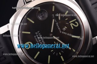 Panerai Lefty Luminor Power Reserve SS/RU Black Asia 7750 PAM00123