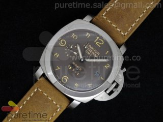 PAM402 1950 10 Days GMT Brown Dial on Brown Leather Strap