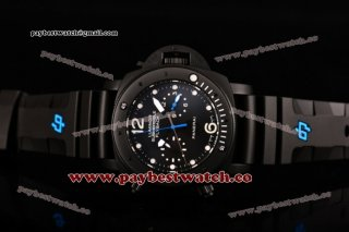 Panerai Luminor Submersible Flyback PAM 617 Black Dial White Markers Black Rubber Titanium Watch