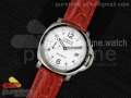 PAM049 F V6F 1:1 Best Edition White Dial on Red Leather Strap A7750