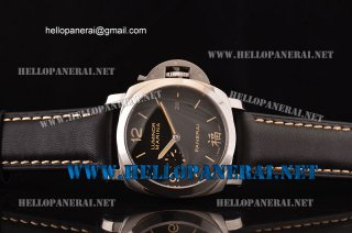 Panerai PAM366 Luminor Marina Fu 1:1 Original Steel Case Black Dial A-7750-CHGPAM00366