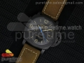 PAM580 Q Real Ceramic V6F Black Dial on Brown Asso Strap P.9100