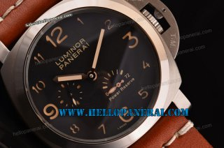 Panerai PAM090 Luminour Power Reserve Steel Case Black Dial A-ST25