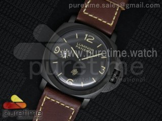 PAM617 R Luminor 1950 DLC SF California Dial on Thick Brown Leather Strap P.3000 Super Clone