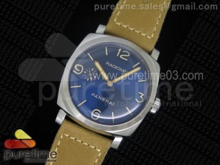 PAM690 Q SF Best Edition Blue Dial Sapphire Crystal on Thick Brown Leather Strap P.3000 Super Clone