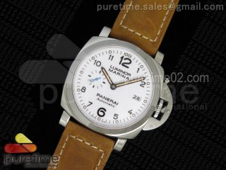 PAM1499 S ZF 1:1 Best Edition White Dial on Brown Asso Strap P9010