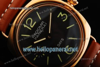 Panerai Radiomir 8 Days Pam 197 6497 Manual Winding RG/LE Black Watch