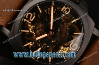 Panerai Luminor Marina 1950 3 Days PVD Skeleton/Black Skull Dial Swiss ETA 6497 Manual Winding PAM 427
