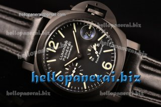 Panerai Luminor Power Rerserve PVD Black Dial Auto Ref.PAM 090