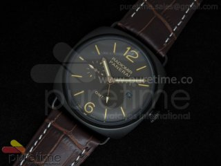 PAM421 3 Days GMT PVD Brown Dial on Brown Leather Strap