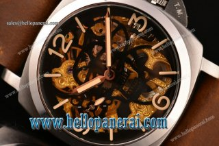 Panerai Luminor Marina 1950 3 Days SS Skeleton Dial Swiss ETA 6497 Manual Winding PAM 426