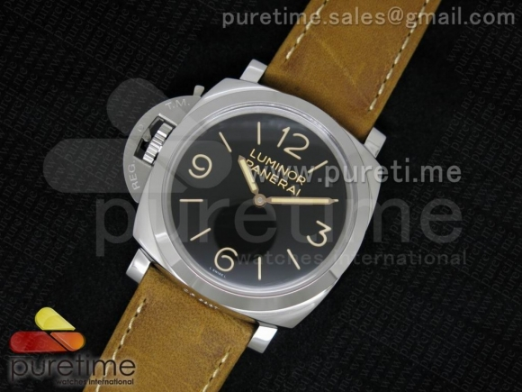 PAM557 O SF Black Dial on Brown Asso Strap P.3000 Super Clone