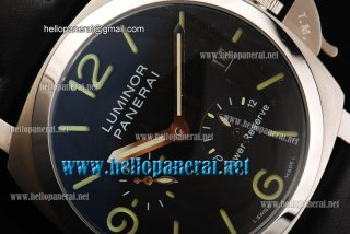 Panerai Luminor Power Reserve Pam 090 SS/LE Black Automatic Watch