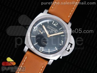 PAM127 E Noob 1:1 Best Edition on Brown Leather Strap A6497 with Y-Incabloc