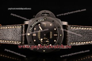Panerai Luminor Submersible PAM 508 P Black Dial Black Leather Ceramic Watch (ZF)