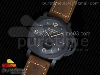 PAM441 O Real Ceramic VSF 1:1 Best Edition on Brown Asso Strap P.9001 Super Clone V2