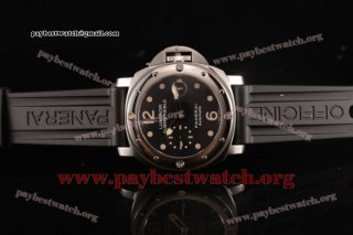 Panerai Luminor Submersible Automatic Acciaio PAM 024 Black Dial Black Rubber Steel Watch (KW)