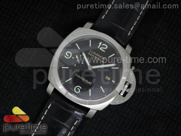 PAM312 O V6F 1:1 Best Edition on Black Leather Strap P9000