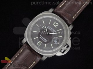 PAM240 Titanium Brown Dial on Deep Brown Leather Strap A7750