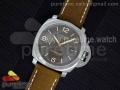 "PAM608 ""Hong Kong"" V6F Best Edition Brown Dial on Brown Asso Strap A7750"