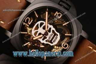 Panerai Luminor Marina 1950 3 Days PVD Skeleton/White Skull Dial Swiss ETA 6497 Manual Winding PAM 427