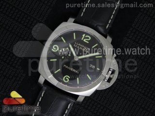 PAM312 R JF 1:1 Best Edition on Black Leather Strap P9000 Clone