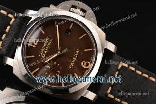Panerai PAM00351 Luminor Marina 1950 3 Days SS Brown Dial Asia ST25