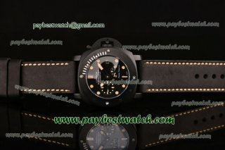 Panerai Luminor Submersible 1950 3 Days Power Reserve PAM00507 Black Dial Black Leather Strap PVD Watch