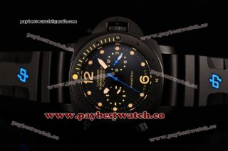 Panerai Luminor Submersible Flyback PAM 617 Black Dial Yellow Markers Black Rubber Titanium Watch