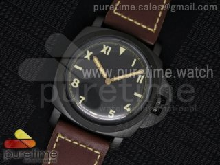 PAM629 R Luminor 1950 DLC SF California Dial on Thick Brown Leather Strap P.3000 Super Clone