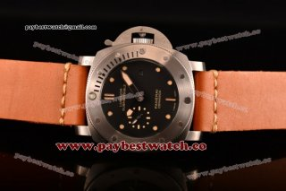 Panerai Luminor Submersible 1950 3 Days Automatic Ceramica PAM00305 Black Dial Orange Leather Steel Watch