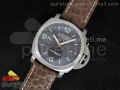 PAM351 P ZF 1:1 Best Edition on Brown Leather Strap P9000