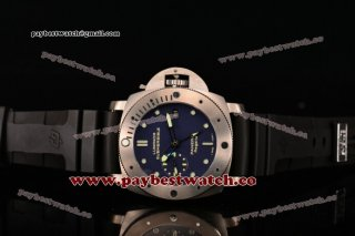 Panerai Luminor Submersible PAM 371 Blue Dial Superlumed Markers Titanium Watch (ZF)