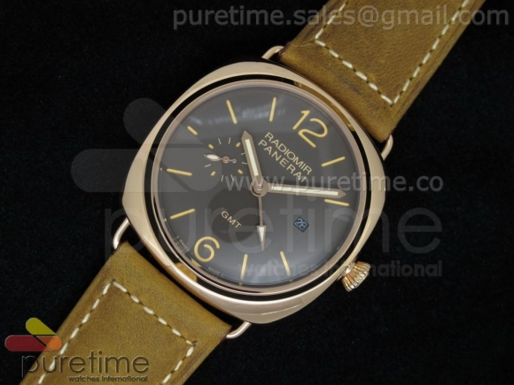 PAM421 GMT RG Brown Dial on Brown Leather Strap