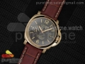 PAM048 H RG V6F Best Edition Brown Dial on Brown Leather Strap A7750