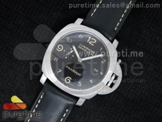 PAM359 P ZF 1:1 Best Edition on Black Leather Strap P.9000 Movement
