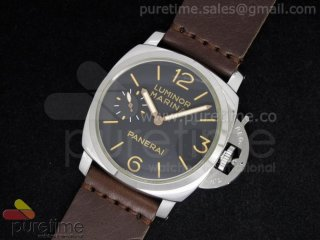 PAM422 Black Dial on Brown Lether Strap A6497