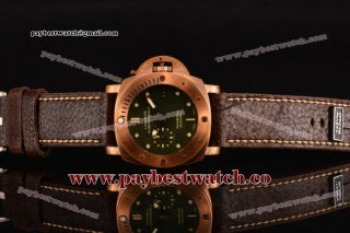 Panerai Luminor Submersible 1950 3 Days PAM 382 Green Dial Bronzo Watch 1:1 Original (ZF)
