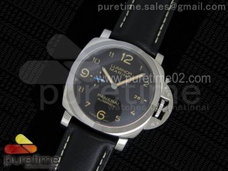 PAM1359 S ZF 1:1 Best Edition Black Dial on Black Leather Strap P9010