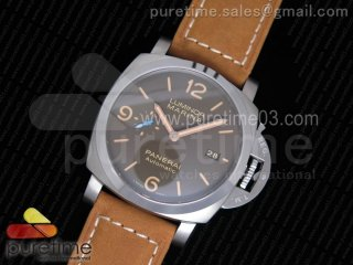 PAM1351 T Titanium ZF 1:1 Best Edition Brown Dial on Brown Asso Strap P9010
