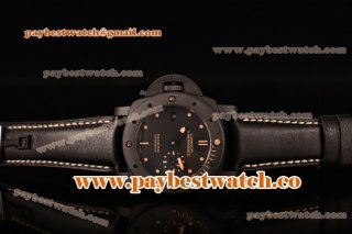 Panerai Luminer Submersible Left Handed Ceramica PAM 607 Black Dial Real Ceramic Watch (KW)
